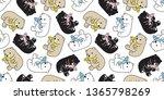 bear seamless pattern polar... | Shutterstock .eps vector #1365798269