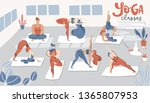 illustration with yoga classes. ... | Shutterstock .eps vector #1365807953
