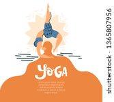 yoga background illustartion... | Shutterstock .eps vector #1365807956