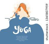 yoga background illustartion... | Shutterstock .eps vector #1365807959