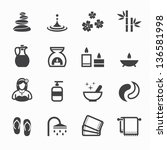 spa icons with white background | Shutterstock .eps vector #136581998