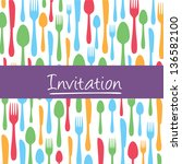 stylish invitation card with... | Shutterstock .eps vector #136582100
