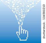 social media over blue...   Shutterstock .eps vector #136583210