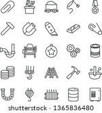 thin line vector icon set  ...   Shutterstock .eps vector #1365836480