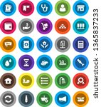 white solid icon set  drying... | Shutterstock .eps vector #1365837233