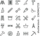 thin line vector icon set  ... | Shutterstock .eps vector #1365842723