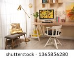 comfortable workplace with...   Shutterstock . vector #1365856280