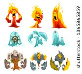 Fire  Stone And Water Monsters...