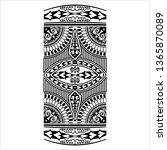 tribal tattoo design creative...   Shutterstock .eps vector #1365870089