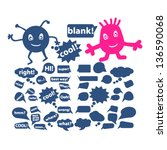chat   speech bubbles  icons ... | Shutterstock .eps vector #136590068