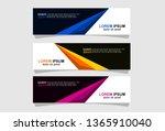 modern abstract banner design   Shutterstock .eps vector #1365910040
