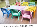 Colorful Wooden Armchairs