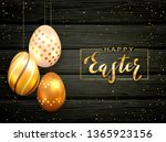 lettering happy easter with... | Shutterstock .eps vector #1365923156