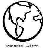 globe symbol | Shutterstock .eps vector #1365944