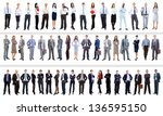 collection of full length... | Shutterstock . vector #136595150