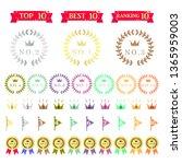 ranking icon set | Shutterstock .eps vector #1365959003