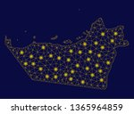 bright yellow mesh abu dhabi... | Shutterstock .eps vector #1365964859