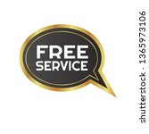 free service sign  emblem ...