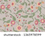 seamless indian floral ethnic... | Shutterstock .eps vector #1365978599