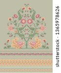 indian ethnic pattern with... | Shutterstock .eps vector #1365978626