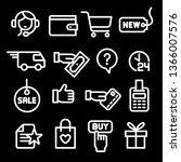 illustration of set e commerce... | Shutterstock .eps vector #1366007576