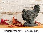 Vintage Cast Iron Turkey With...