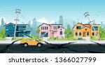 earthquake damage to houses and ...   Shutterstock .eps vector #1366027799