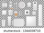 disposable plastic utensils and ...   Shutterstock .eps vector #1366038710