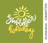 hand drawn doodle lettering... | Shutterstock .eps vector #1366047233