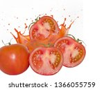 photo of tomato with slice and... | Shutterstock . vector #1366055759