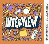 interview lettering with... | Shutterstock .eps vector #1366058069