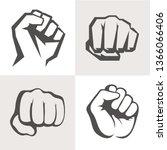 vector hands icon set.... | Shutterstock .eps vector #1366066406