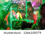 dancing couples during party or ... | Shutterstock . vector #1366100579