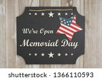 we are open memorial day text... | Shutterstock . vector #1366110593
