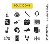 music icons set with maracas ...