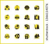 eco icons set with global...