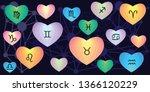 vector illustration of zodiac... | Shutterstock .eps vector #1366120229