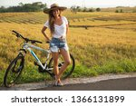 young and happy woman with a... | Shutterstock . vector #1366131899