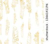 gold gradient vector seamless... | Shutterstock .eps vector #1366141196