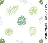 vector beach seamless pattern... | Shutterstock .eps vector #1366141199