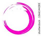 circle brush stroke vector... | Shutterstock .eps vector #1366144283