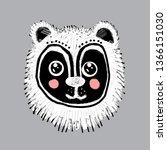 card design funny bear dog cat... | Shutterstock .eps vector #1366151030