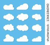 clouds icon  vector... | Shutterstock .eps vector #1366186040