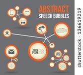 abstract speech bubbles | Shutterstock .eps vector #136619219