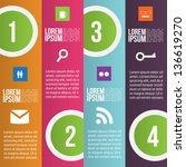 four steps for infographics... | Shutterstock .eps vector #136619270