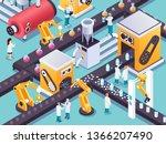 steampunk isometric machine... | Shutterstock .eps vector #1366207490
