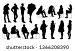 set of young and adult men and... | Shutterstock . vector #1366208390