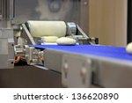 industrial conveyor for making... | Shutterstock . vector #136620890