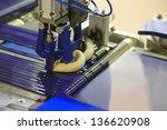 industrial conveyor for making... | Shutterstock . vector #136620908