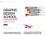 web page design template for... | Shutterstock .eps vector #1366210526
